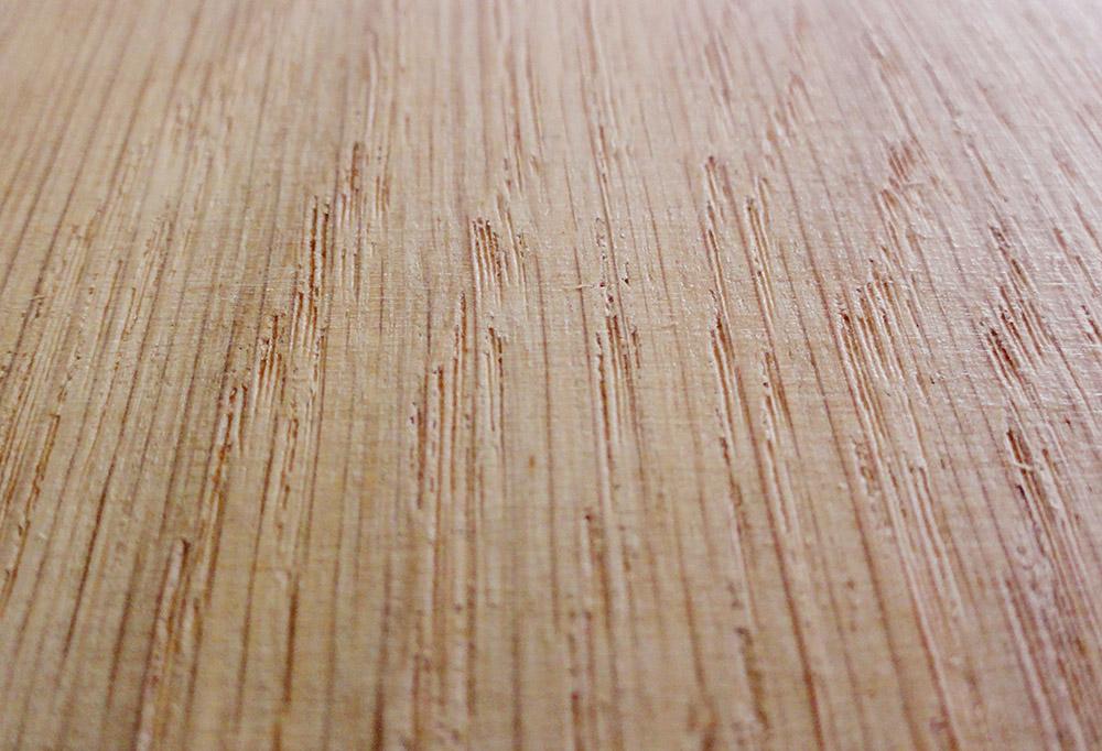 Dąb - szlifowanie poprzecznie do włókien drewna
